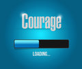Courage Loading Bar Sign Concept Stock Photography - 57292372