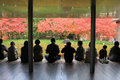 Unidentified People Rest At A Zen Garden Inside Byodo-In Temple Stock Photo - 57292790