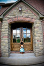 Child And Antique Door Royalty Free Stock Images - 5730919