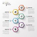 Abstract Hexagon Infographics Or Timeline Template. Vector Illustration Royalty Free Stock Photo - 57300955