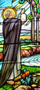 Stained Glass Window Of Metropolitan Cathedral Of Our Lady Of The Holy Rosary Stock Photo - 57328700