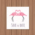Save The Date Card On A Wooden Background Stock Photography - 57330642