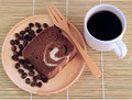 Coffee Cup And Fresh Bread Royalty Free Stock Image - 57342866
