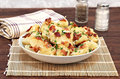 Roasted Potatoes With Bacon, Parmesan And Garlic. Royalty Free Stock Images - 57343289