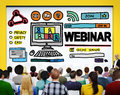 Webinar Online Seminar Global Communications Concept Royalty Free Stock Photography - 57345967