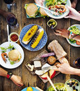 Food Table Delicious  Meal Prepare Cuisine Concept Royalty Free Stock Image - 57353306