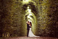 Groom And Bride In Schonbrunn Gardens Royalty Free Stock Image - 57358706