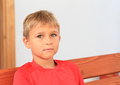 Boy In Red T-shirt Royalty Free Stock Photo - 57358735