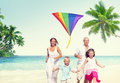 Family Beach Enjoyment Holiday Summer Concept Royalty Free Stock Image - 57359696