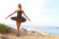Classical Dancer In Front Of The Sea Royalty Free Stock Image - 57363726
