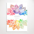 Watercolor Rainbow Flowers. Poster Royalty Free Stock Photo - 57367345