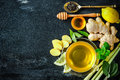 Cup Of Ginger Tea Stock Photography - 57374682