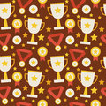 Flat Vector Seamless Pattern Sport Competition Trophy Winning Wi Stock Photo - 57375120