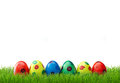 Easter Eggs In Grass Stock Images - 57376444