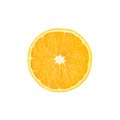 Ripe Orange Cut In Half Isolated Over The White Stock Photography - 57376912