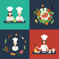 Flat Design Concept Icons Of Kitchen Utensils With Stock Photography - 57385562