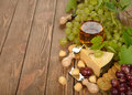 Wine, Grapes And Cheese Royalty Free Stock Images - 57388369