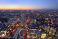 Bird Eye View At Sunset Time At Sapporo Stock Photos - 57390623