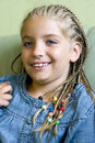 Blond Girl In Braids Royalty Free Stock Photo - 5743505