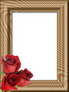 Red Roses On A Wooden Framework Royalty Free Stock Photos - 5743728