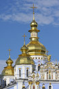 Golden Towers Of Orthodox Church In Kiev, Ukraine Royalty Free Stock Photo - 5747745