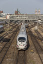 ICE Train Departing From Munich Central Railway Station, 2015 Royalty Free Stock Photography - 57400897