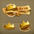 Golden Crowns, Vector Icons Stock Images - 57417574