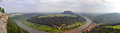 Panoramic View Of River Elbe, Germany - From Bastei Rocks In Saxon Switzerland Stock Photo - 57435140