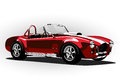 Red Classic Sport Car Cobra Roadster Stock Images - 57435994