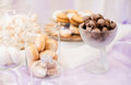 Colorful Wedding Candy Table With Different Stock Image - 57444421