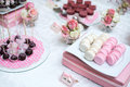 Colorful Wedding Candy Table With All The Royalty Free Stock Photography - 57444457