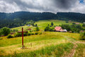 Kysuce Countryside Farm At Summer Stock Images - 57447504