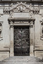 Old Door In The Square Of The Famous Basilica Church Of The Holy Cross. Italy Royalty Free Stock Photos - 57455728