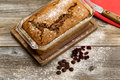 Freshly Baked Zucchini Bread On Rustic Wooden Boards Royalty Free Stock Image - 57459736