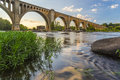 Richmond Railroad Bridge Over James River Royalty Free Stock Photography - 57462517