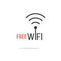 Free Wifi Logotype With Simple Shadow Royalty Free Stock Photography - 57470997