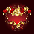 Red Banner With Roses Stock Photo - 57473330