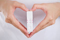 Close Up Pregnancy Test With Love Women Feeling Happiness. Royalty Free Stock Photo - 57479795