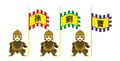 Romance Of The Three Kingdoms Soldiers Flags Stock Photos - 57488863
