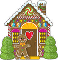 Gingerbread House And Man Royalty Free Stock Photos - 5750028