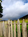 Fence Around A Field Royalty Free Stock Image - 5757486