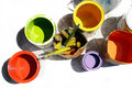 Cans With Colors Royalty Free Stock Photography - 5758667