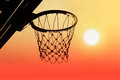 Basketball Hoop Outdoor In The Sunset Silhouette Royalty Free Stock Photos - 57514668