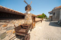 Windmill In An Old Stone Architecture Of Sozopol In Bulgaria Royalty Free Stock Photos - 57528988