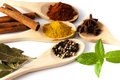Variety Of Spices And Aromatic Herbs Royalty Free Stock Photography - 57529657