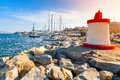 Lighthouse Tower In A Sunshine, Corsica, Ajaccio Stock Images - 57535284