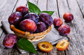 Fresh Plum Royalty Free Stock Photo - 57538085