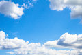 White Clouds On Blue Sky Royalty Free Stock Photo - 57543375