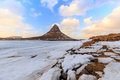 Beauty Of Kirkjufell Mountain With Water Falls Royalty Free Stock Image - 57571016