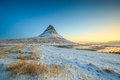 Beauty Of Kirkjufell Mountain With Water Falls Royalty Free Stock Photography - 57572817